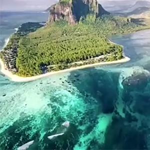 毛里求斯海底瀑布,你见过吗?