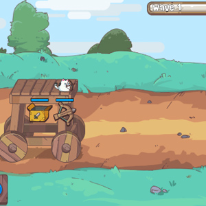 猫咪机器人空闲防御游戏试玩视频