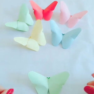 3D立体蝴蝶折纸教程