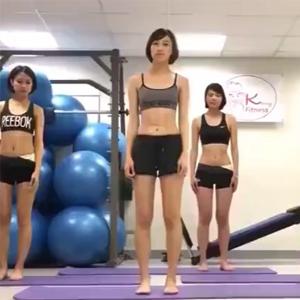 运动健身教程 现实版瘦身男女!