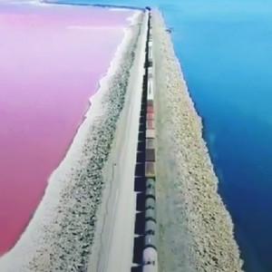 抖音一半海水一半盐湖是哪里 犹他州大盐湖一半海水一半盐湖超美