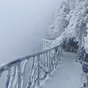 抖音张家界童话般的雪景视频