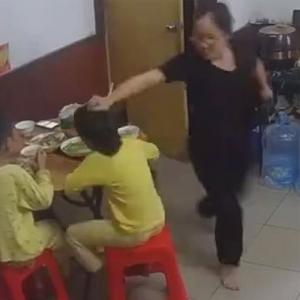 小女孩遭全家虐待暴打视频