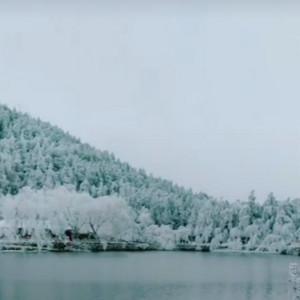 庐山如琴湖雪景视频