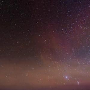 延时拍摄的南极景观 极光与星辰变换